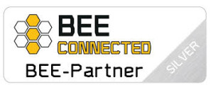 Bee Connected silfer logo